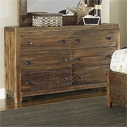 Magnussen River Ridge Wood 6 Drawer Dresser in Natural