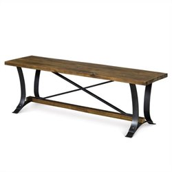 Magnussen River Ridge Wood Bench in Natural