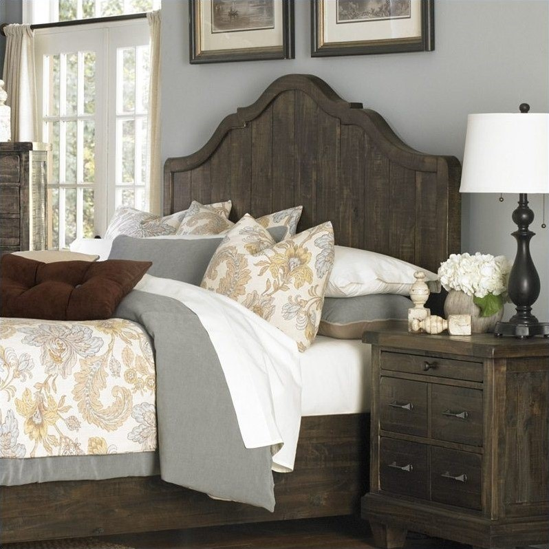 Brenley Panel Headboard in Umber