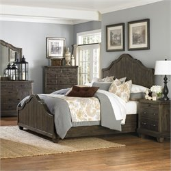 Magnussen Brenley Wood Panel Bed in Umber