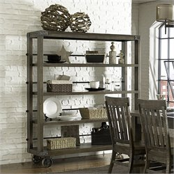 Magnussen Karlin Wood Dining Cart in Grey Acacia