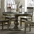Magnussen Karlin Wood Round Dining Table with Bluestone Top