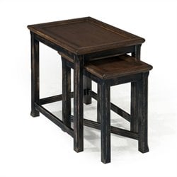 Magnussen Clanton Wood Bunching End Table in Antique Black