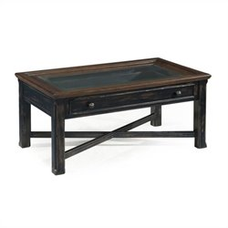 Magnussen Clanton Wood Large Rectangular Coffee Table in Antique Black