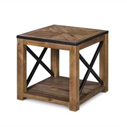 Magnussen Penderton Wood Rectangular End Table in Sienna