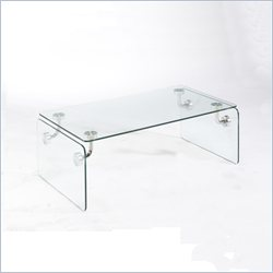 Magnussen Clarion Glass Rectangular Coffee Table