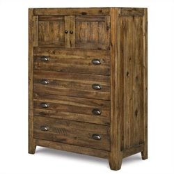 Magnussen Braxton Wood 4 Drawer Chest in Natural