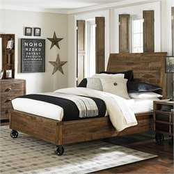 Magnussen Braxton Wood Island Bed with Casters in Natural