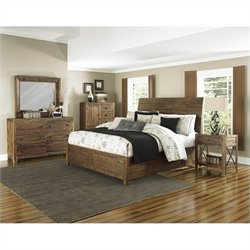 Magnussen River Ridge 5 Piece Bedroom Set in Natural
