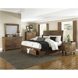 Magnussen River Ridge 4 Piece Bedroom Set in Natural