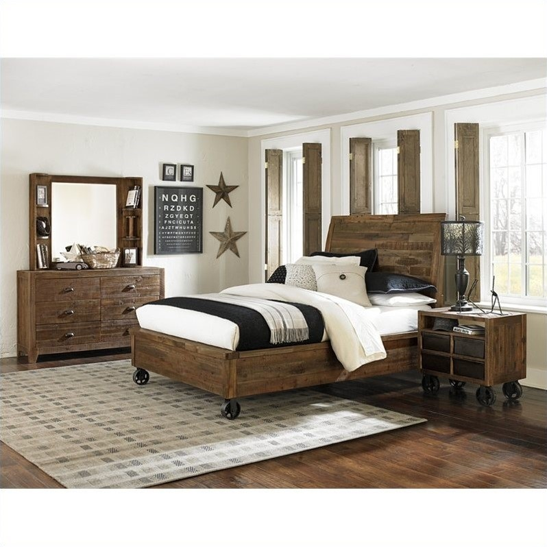 Magnussen Braxton 3 Piece Bedroom Set in Natural