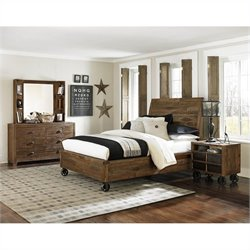 Magnussen Braxton 4 Piece Bedroom Set in Natural
