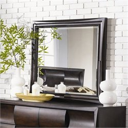Magnussen Fuqua Wood Landscape Mirror in Black  Cherry
