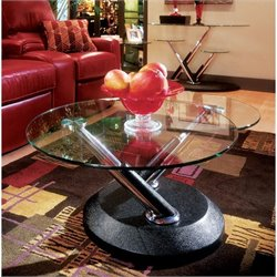 Magnussen Modesto 3 Piece Metal Accent Table Set in Synthetic Black