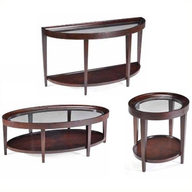 Magnussen Carson 3 Piece Accent Table Set in Sienna