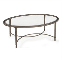 Magnussen Copia Cocktail Table in Antique Silver