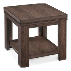 Magnussen Harbridge Rectangular End Table in Warm Nutmeg