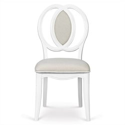Magnussen Gabrielle Wooden Desk Chair in Snow White