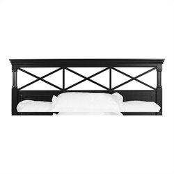 Magnussen Regan Panel Queen Panel Headboard in Black