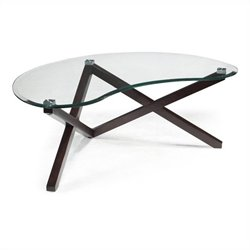 Magnussen Visto Cocktail Table in Merlot