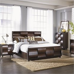 Magnussen Fuqua Panel Bed in Black Cherry