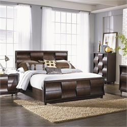 Magnussen Fuqua Panel Bed with Storage in Black Cherry - Queen
