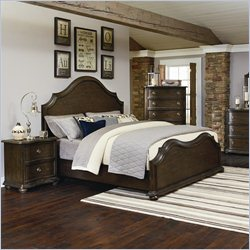 Magnussen Muirfield Panel Bed in Distressed Pine - King