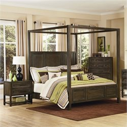 Magnussen Eastlake Poster Bed in Washed Hazelnut