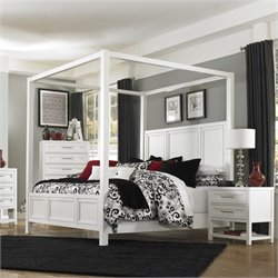 Magnussen Clearwater Poster Bed in White