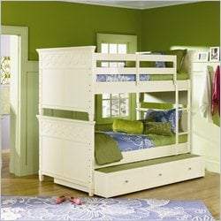 Magnussen Cameron Bunk Bed in Off White - Twin over Twin
