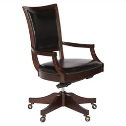 Magnussen H1794 Fuqua Upholstered Desk Chair w Curved Back
