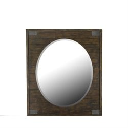 Magnussen Pine Hill Oval Mirror in Rustic Pine