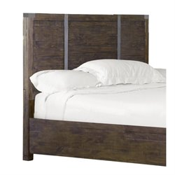 Magnussen Pine Hill Queen Panel Bed Headboard in Rustic Pine