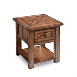 Magnussen Harper Farm 1 Drawer End Table in Warm Pine