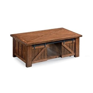 Magnussen Harper Farm Lift Top Coffee Table with Casters in Warm Pine