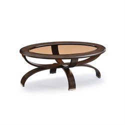Magnussen Deco Oval Coffee Table in Cappuccino