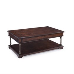 Magnussen Butler Lift Top Coffee Table with Casters Aged Tobacco