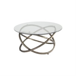 Magnussen Escala Round Cocktail Table in Champagne