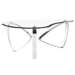 Magnussen Nico Coffee Table with Casters in Chrome