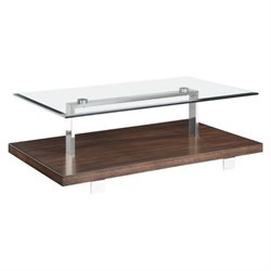 Magnussen Modern Loft Coffee Table in Brushed Nickel