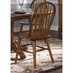 Liberty Furniture Nostalgia Windsor Dining Side Chair in Medium Oak