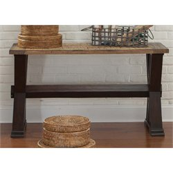 Liberty Furniture Catalina Console Table in Weathered Honey and Black