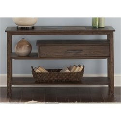 Liberty Furniture Brookstone Console Table in Weathered Oak