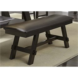 Lawson Dining Bench in Light and Dark Espresso