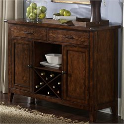 Liberty Furniture Cabin Fever Server in Bistro Brown