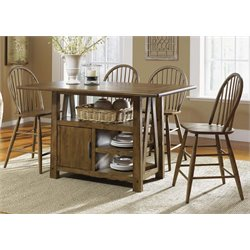 Liberty Furniture Farmhouse Counter Height Dining Table in Oak