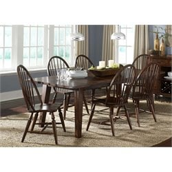 Liberty Furniture Cabin Fever Dining Table in Bistro Brown