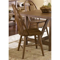 Liberty Furniture Farmhouse Windsor Back Dining Side Chair in Oak