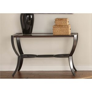 Liberty Furniture Skylights Glass Top Console Table in Sienna