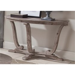 Liberty Furniture Greystone Mill Console Table in Stone White Wash